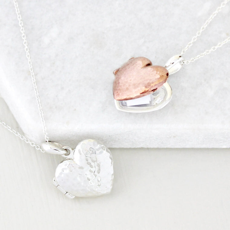 Personalised Message Heart Locket Necklace