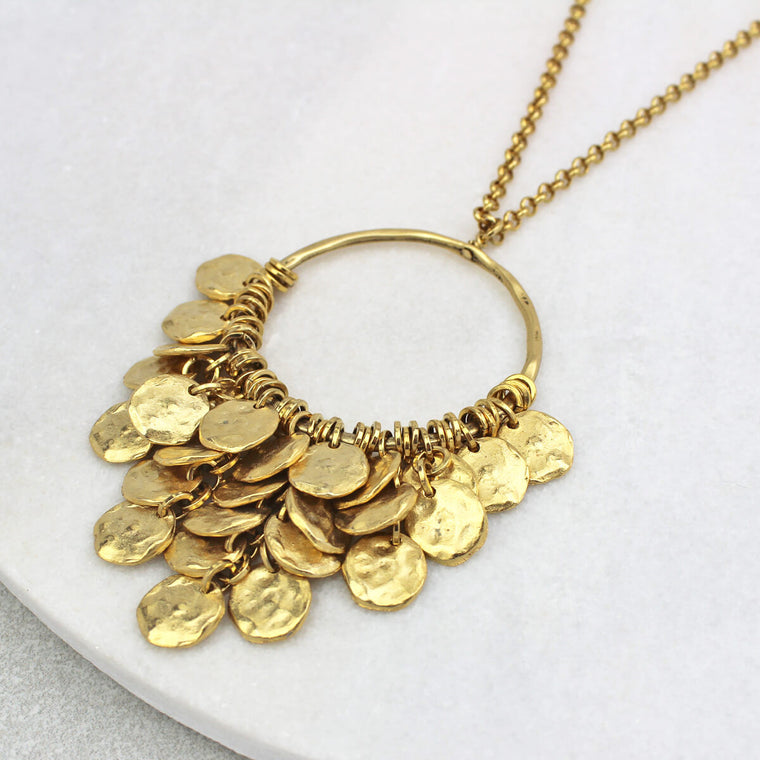 Sienna Disc Necklace