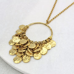 Sienna Disc Necklace, gold