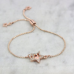 rose gold star diamante bracelet