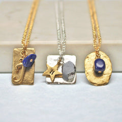 Lapis birthstone necklace September birthstone birthday gift