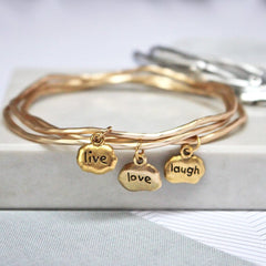 Live Love Laugh Keepsake Bangles
