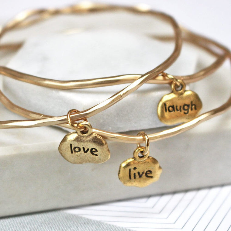 Live Love Laugh Mantra Bangles