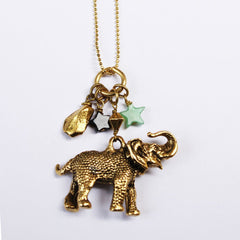 Lucky Elephant Charm Necklace