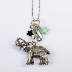 Lucky Elephant Charm Necklace 2156 c