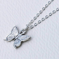 Mini Butterfly Charm Necklace sterling silver