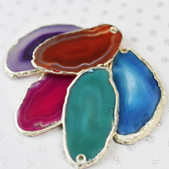 Personalised Agate Statement Pendant colour selection