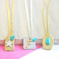 Turquoise birthstone necklace December birthstone jewellery