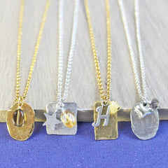 Citrine birthstone necklace November birthday jewellery