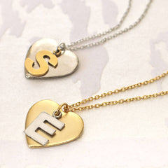 Personalised Initial Heart Pendant