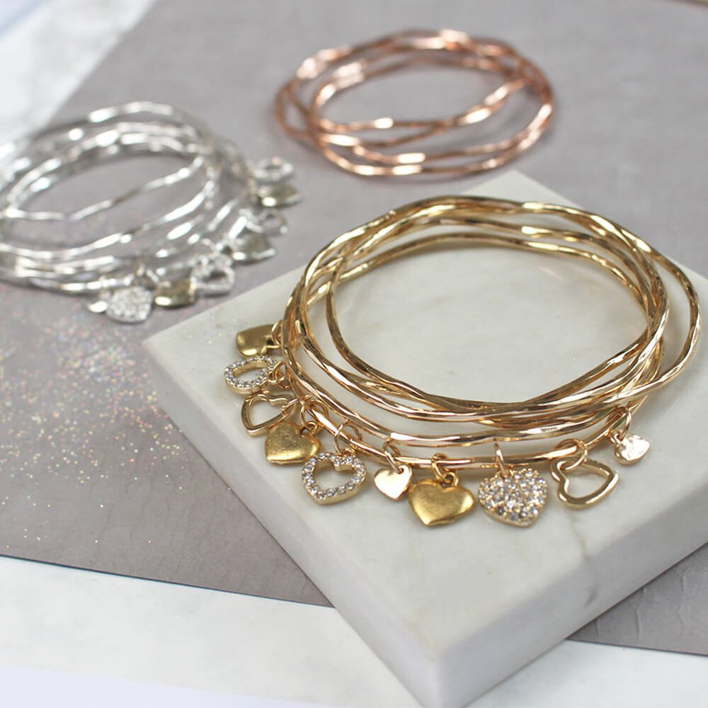 bangle pave product bangles lyst new rose all gold glitters that gallery kate jewelry bracelet charm spade york