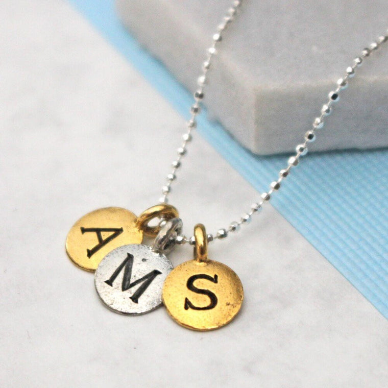 Personalised Three Letter Necklace