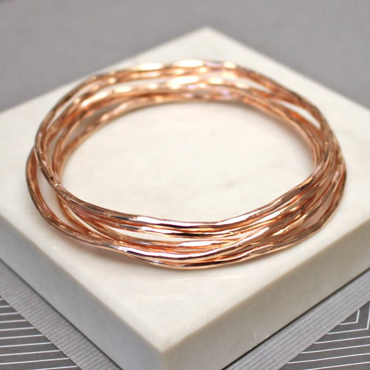 Rose Gold Stacking Bangles