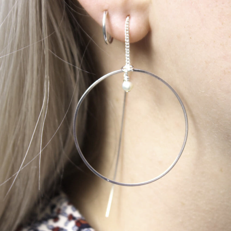 Thread Through Hoop Earrings