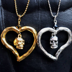 Skull Heart Necklace