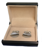 Polished Stainless Steel Oval Cufflinks  C2-1