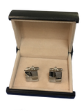 Silver Accented Square Cufflinks - C2-2