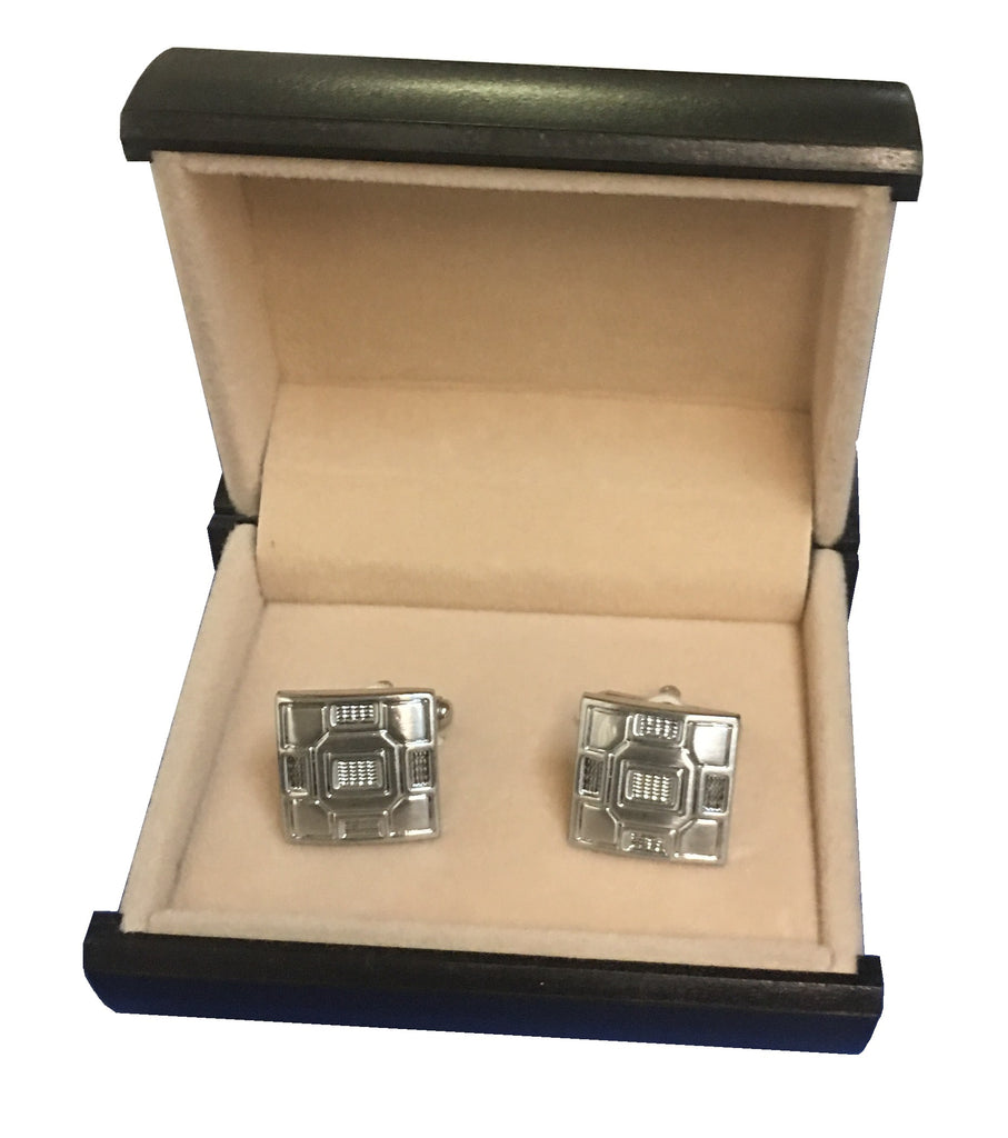 Stylish Stainless Steel Square Cufflinks C3-43