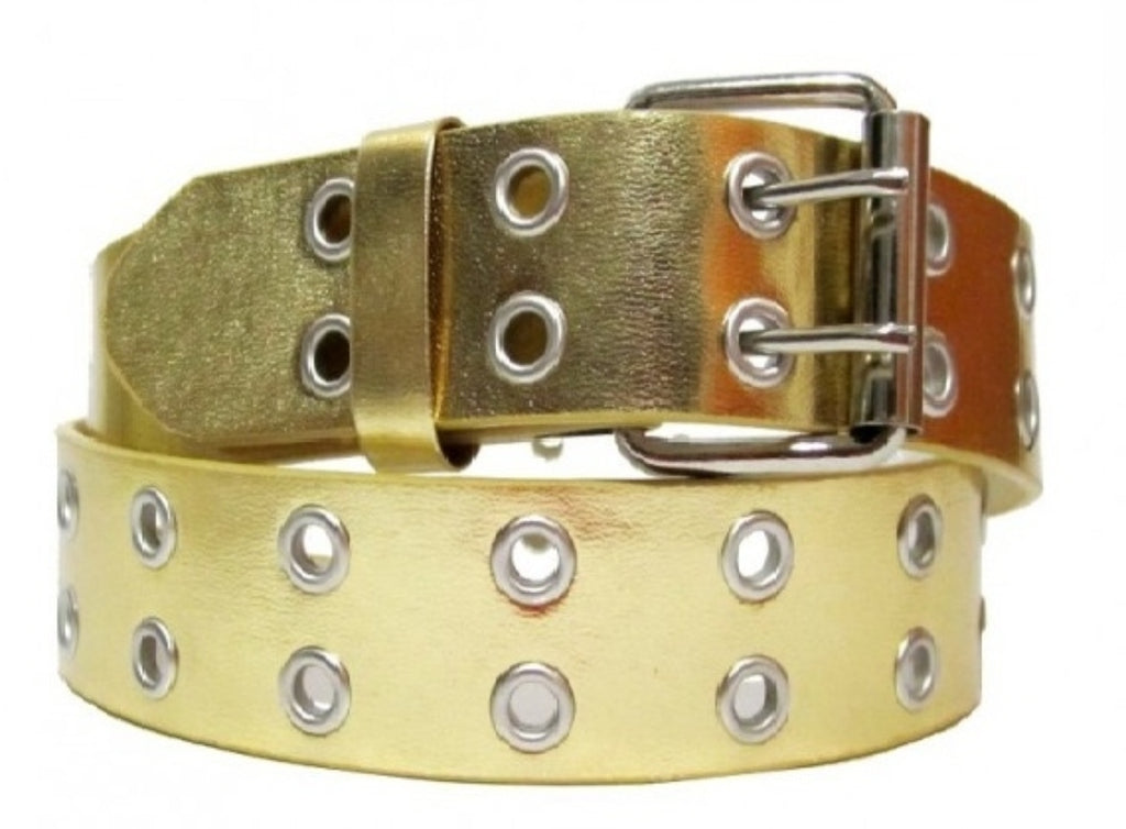 EMP Unisex  Bonded-leather Grommet 2-Rows Belt