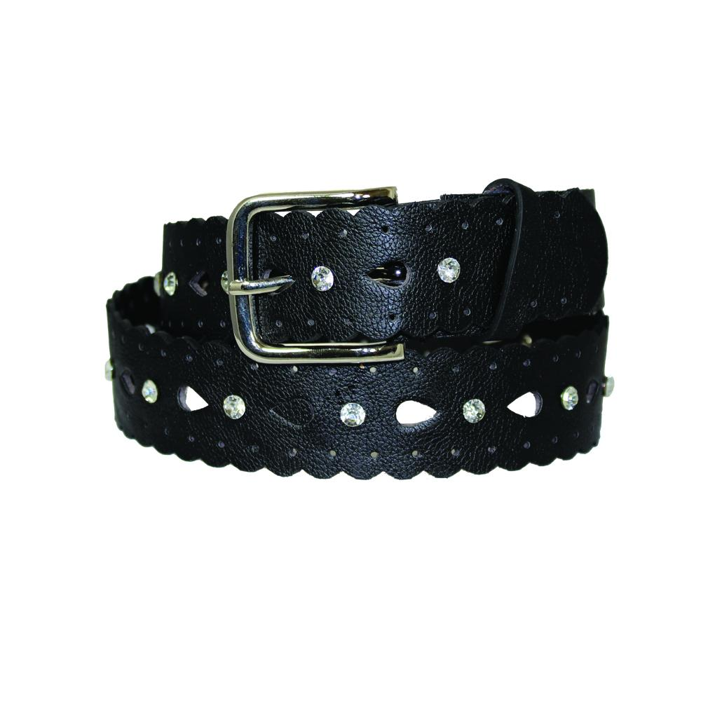 Girl's Crystal Studded Scalloped Edge Girl's Belt - B5052 - DBABESTDEALS