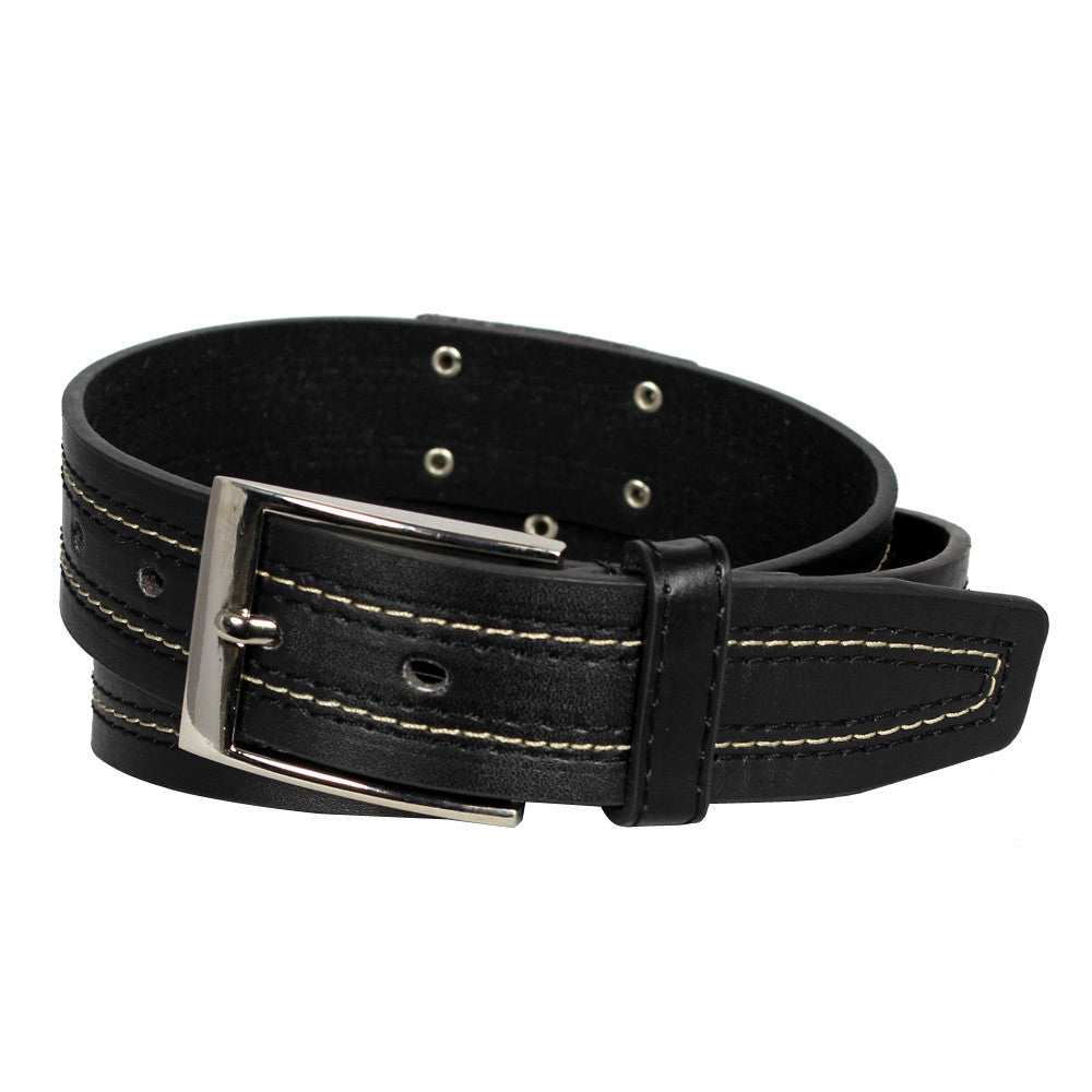 Boy's Jeans Logo Leather Belt - BK1002 - DBABESTDEALS