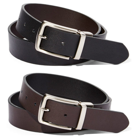 Three Stripe Brushed Metal Buckle Belt - BW2018