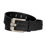 Men's Oversize Hole Stitched Leather Belt -  GL501 - Black