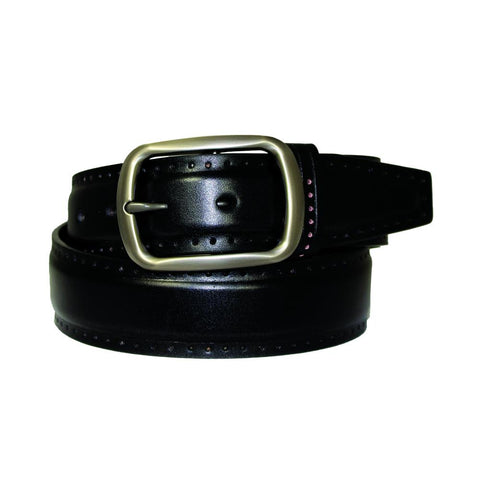 Men's Magnetic Frame Black Matte Leather Belt - G109