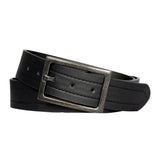 Men's Antiqued Frame Classic Leather Belt - MBP1018 - Black