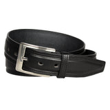 Men's Stitched Leather Casual Belt - MBP1030 - Black