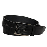 Men's Raised Textured Leather Belt - MBP1034 - Black