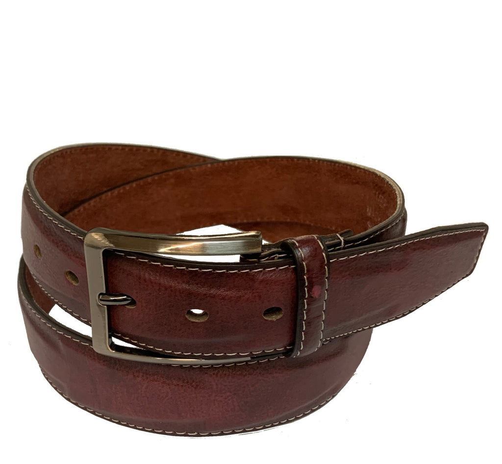 Men's Stitched Leather Casual Belt - MBP1040