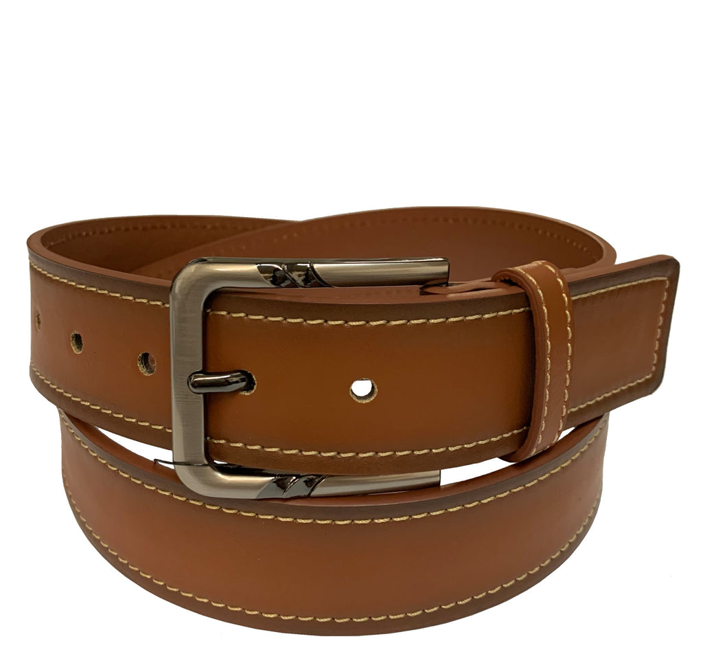 Men's Stitched Leather Casual Belt - MBP1061