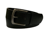 Men's Leather Casual Belt - MBP801 - Black