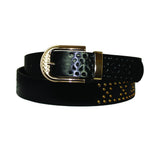 Women's Floral Cut-Out Textured Buckle Belt - STD602 - DBABESTDEALS