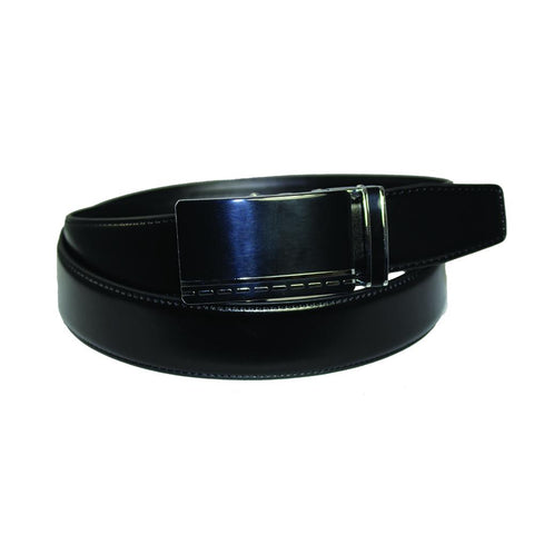 Men's Leather Golden Frame Dress Belt - GL200