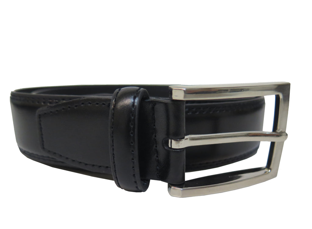 Men's Genuine Leather Dress Belt w/ Stainless Steel Buckle - UB3503
