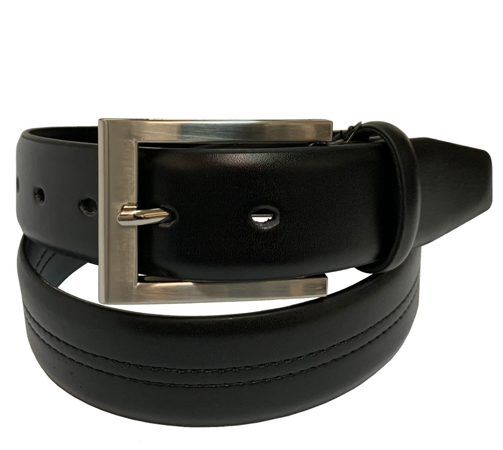 Men's Luxe Leather Reversible Dress Belt w/Metal Buckle- UB404