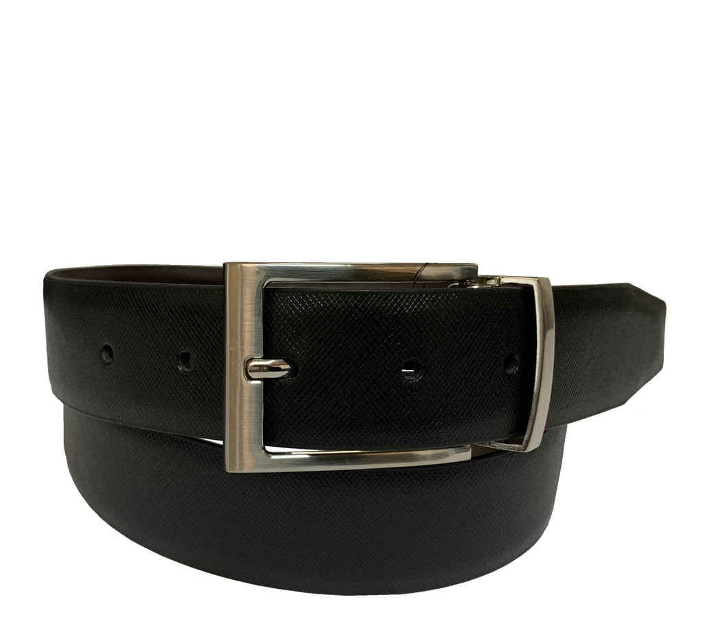 Men's Luxe Leather Reversible Dress Belt w/Metal Buckle- UB419