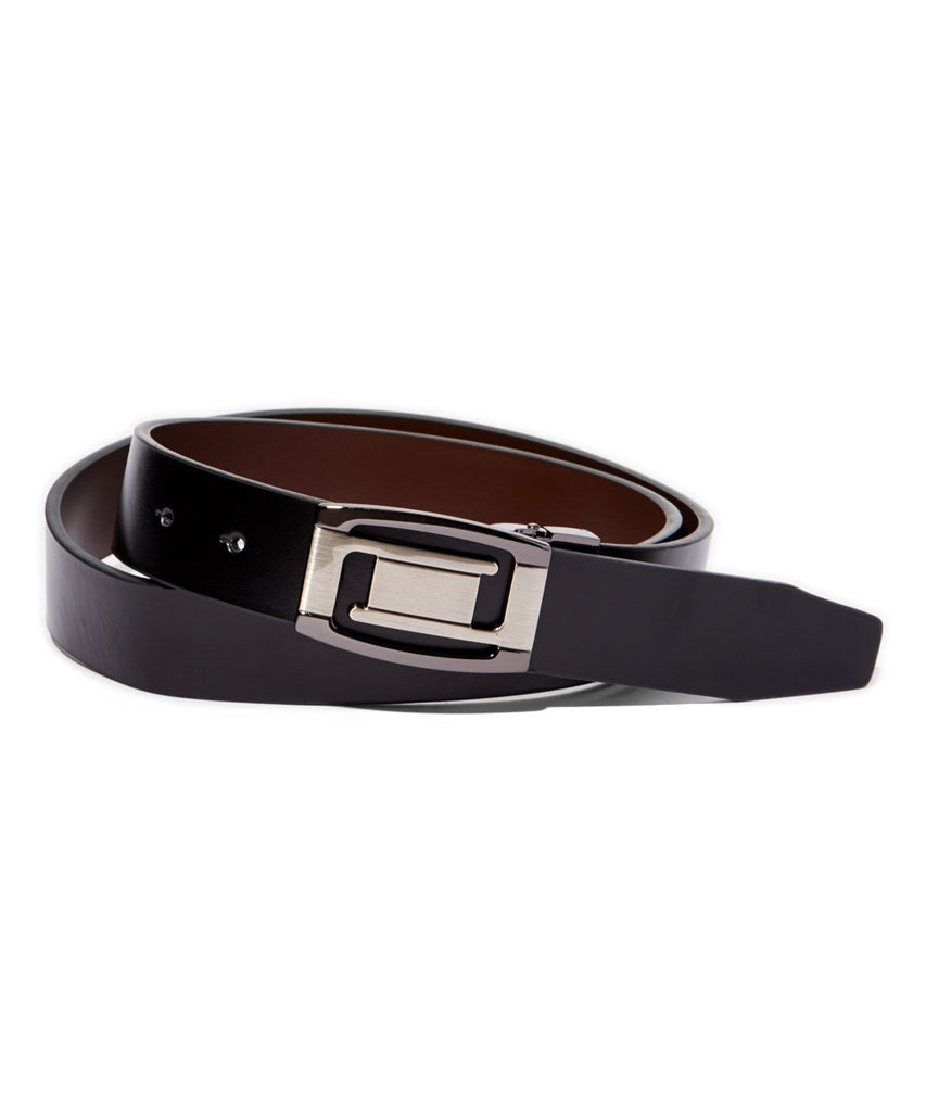 Men's Reversible Leather Belt w/Magnetic Buckle - UB804