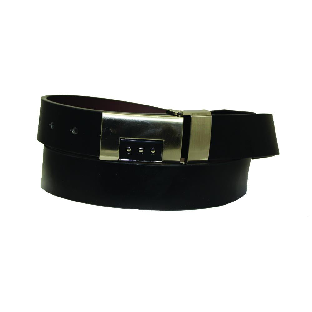 Three Dot Buckle Leather Reversible Belt - UB843REV - DBABESTDEALS
