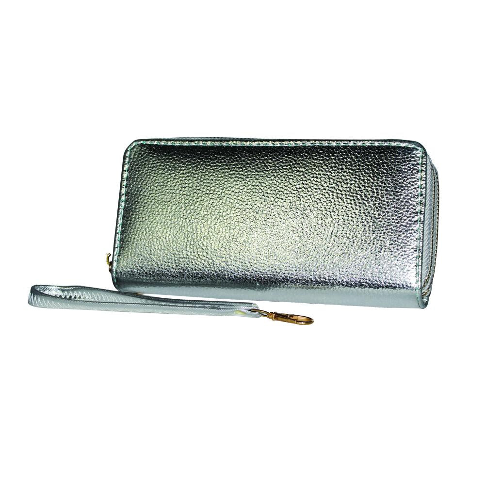 Metallic Gradient Textured Leather Clutch - WA901 - DBABESTDEALS
