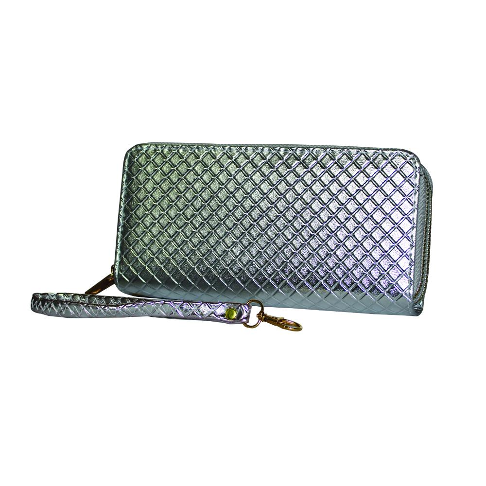 Metallic Raised Diamond Clutch - WABR103 - DBABESTDEALS