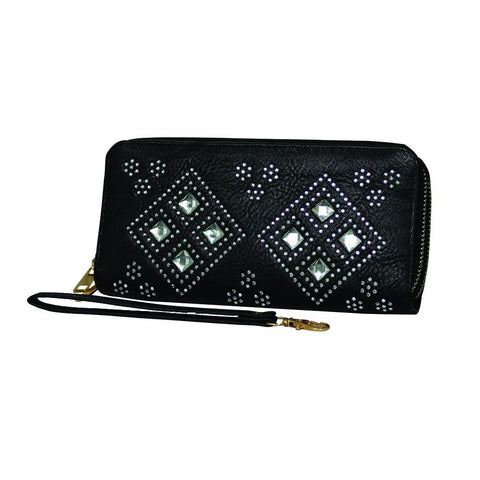 Metallic Gradient Textured Leather Clutch - WA901