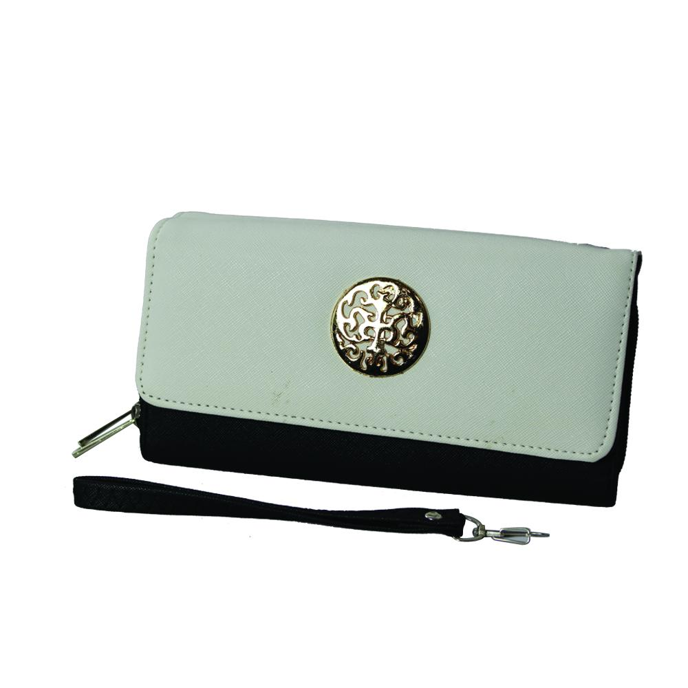 Icon Logo Leather Clutch - WAMK302 - DBABESTDEALS
