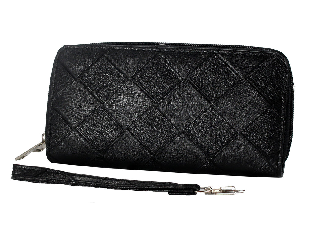 Embossed Matte Finish Clutch  - WASQ101 - DBABESTDEALS