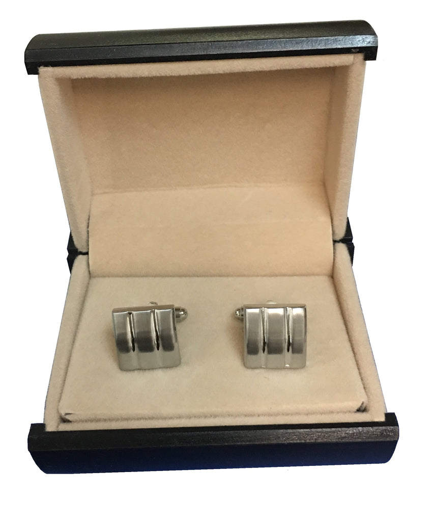 Elegant Stainless Steel Square Cufflinks  C3-27