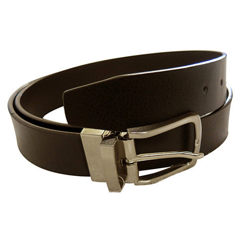 Men's Leather Golden Frame Dress Belt - GL200 - DBABESTDEALS