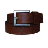 Men's Vintage Square Buckle Leather Belt - MBP1053 - Brown