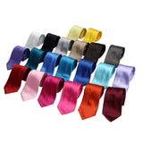 Men's Solid Self-Tie Neck Tie - 3INCHPS - DBABESTDEALS